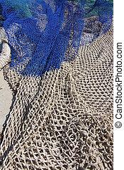 nettó, closeup, halászat