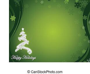 nett, glücklich, feiertage, grün