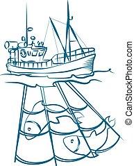netten, visserboot