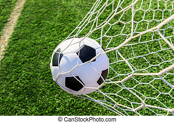 netto, soccer cel, piłka