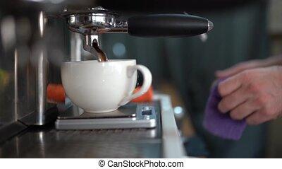 nettoie, cuire vapeur, eau robinet, après, chaud, argent,...