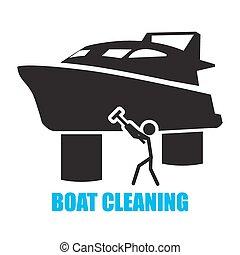 nettoyage, bateau