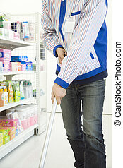 nettoyage, commodité, haut, magasin, vendeur