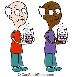 nettoyage, dentiers