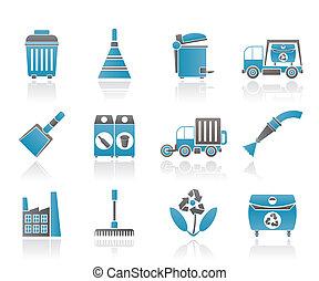 nettoyage, industrie, et, environnement
