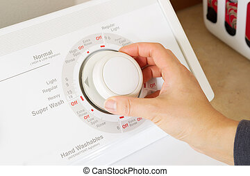 nettoyage, lavage, lessive, monture, machine