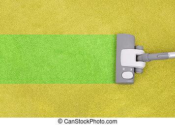 Vert moquette ferm nettoyer aspirateur terre for Nettoyage moquette