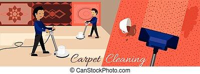 nettoyage, service, moquette
