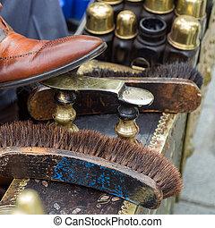 nettoyeur, chaussure, fonctionnement