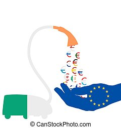 nettoyeur, irlandais, euro, vide