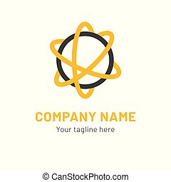netværk, abstrakt, globale, connection., illustration, vektor, logo, ikon, design.