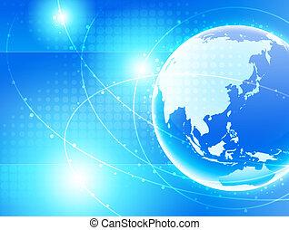 netværk, asien