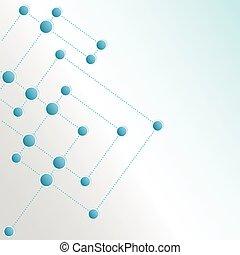 netværk, farve baggrund, teknologi