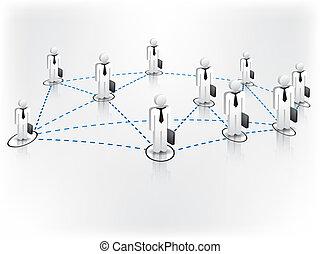 netværk, firma
