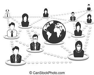 netværk, folk branche