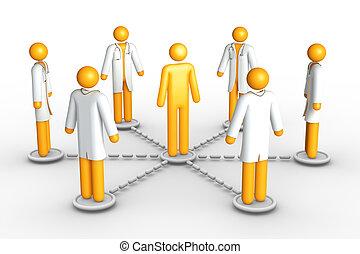 netværk, healthcare