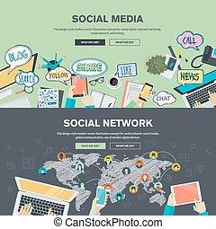 netværk, medier, sociale