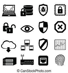 netværk, og, security computer