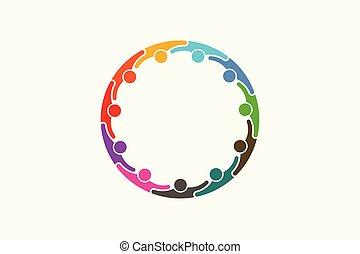 netværk, personer, medier, folk, -, elleve, sociale, logo