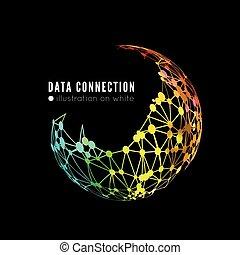 netværk, sammenhænge, abstrakt
