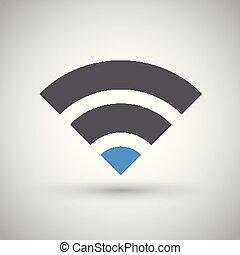 netværk, wifi, internet, zone, ikon