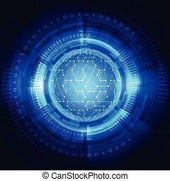 netwerk, abstract, globaal, illustratie, achtergrond., vector, digitale technologie