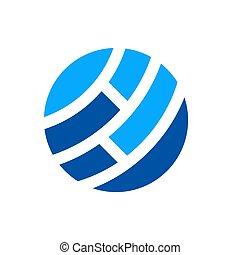 netwerk, abstract, globaal, illustratie, vector, digitale wereld, ontwerp, logo, pictogram