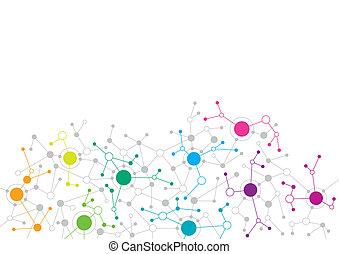 netwerk, abstract ontwerp