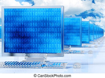 netwerk, computer, elegant