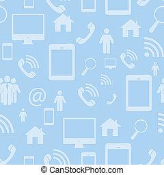 netwerk, illustratie, sociaal, aframmelen, seamless, vector, plat