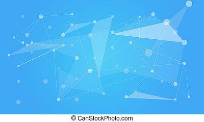 netwerk, kleur, communicatie, mesh., polygonal, achtergrond., vector, sociaal, technologie, illustration.
