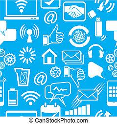 netwerk, model, sociaal