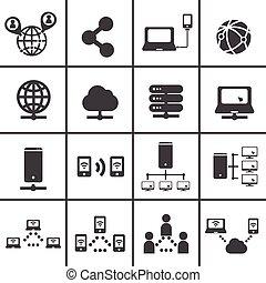 netwerk, pictogram