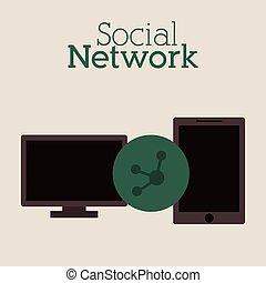 netwerk, sociaal, ontwerp