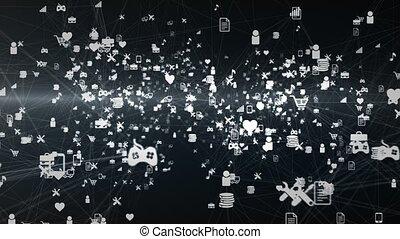 "netwerk, ""social, tekens & borden, diagrammen, videogames, ..."