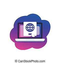 netwerk, vector, illustratie, verbinding