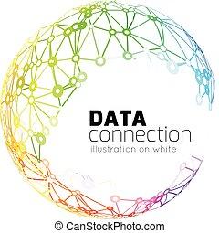 netwerk, verbinding, abstract