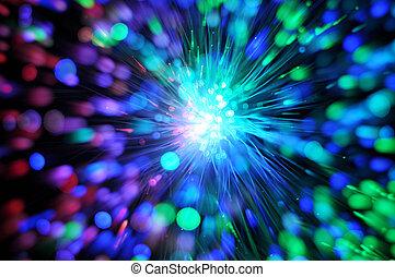netwerk, vezel, optisch, kabel