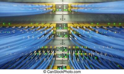 netwerk, volledig, loopable, schakelaars, vertolking, media,...