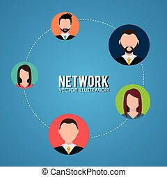 netwerk, zakenlui