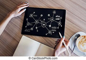 network., 구조, 자원, 사업, 모델, hr, 인간, 친목회, organisational,...