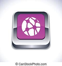 Network 3d button.
