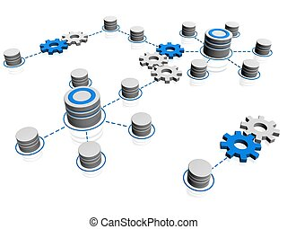 network  - 3d illustration of network