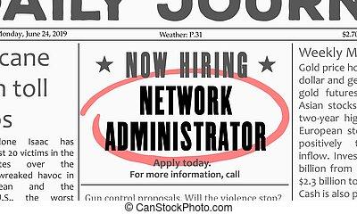 Network administrator job