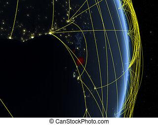 Network around Equatorial Guinea from space - Equatorial ...