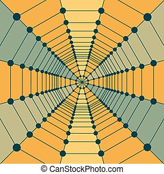 Network background. 3d technology vector illustration. -...