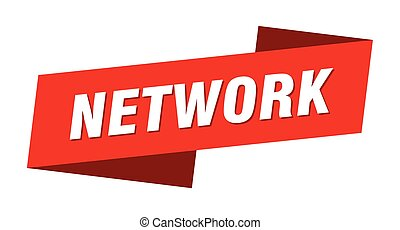 network banner template. network ribbon label sign