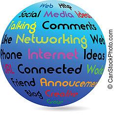 Network business globe