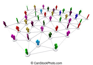network., business, humain, social