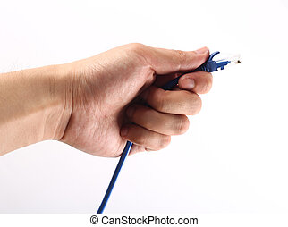 Network Cable In Hand